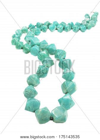 amazonite semigem mineral green beads jewelry necklace