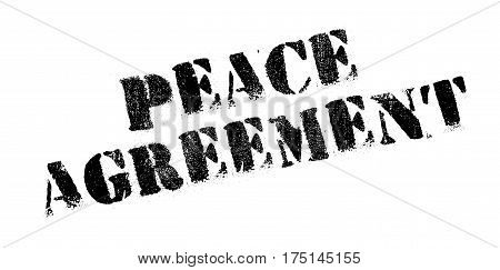 Peace Agreement rubber stamp. Grunge design with dust scratches. Effects can be easily removed for a clean, crisp look. Color is easily changed.