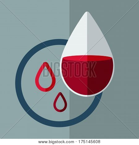 Anemia concept. Drop of blood. Vector illustration