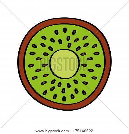 kiwi fresh fruit drawing icon vector illustration design