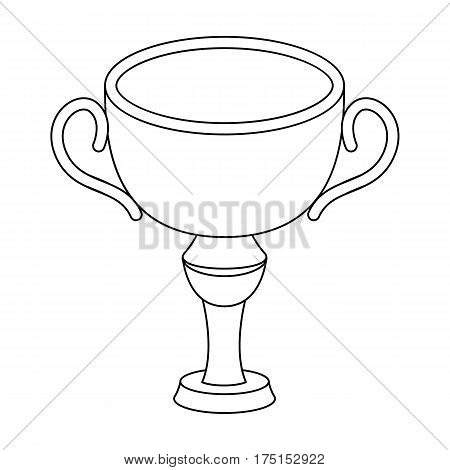 Silver award winner of the competition.The Cup for second place.Awards and trophies single icon in outline style vector symbol stock web illustration.