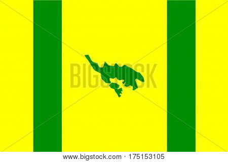 Flag of Isla Culebra (Snake Island) is an island-municipality of Puerto Rico United States. Vector illustration