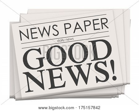 Good News On Newspaper Isolated