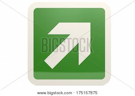 Green Up Right Arrow Sign
