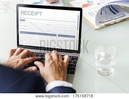 Payment Payslip Invoice Template Concept