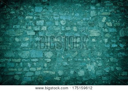 abstract stone wall colored in blue. for background.