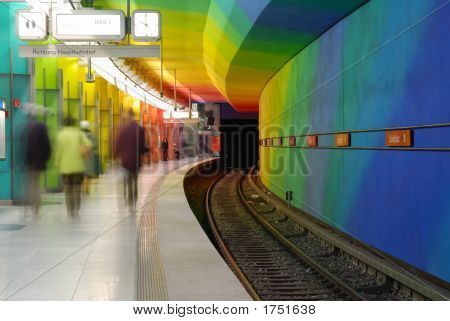 Colored Subway Station