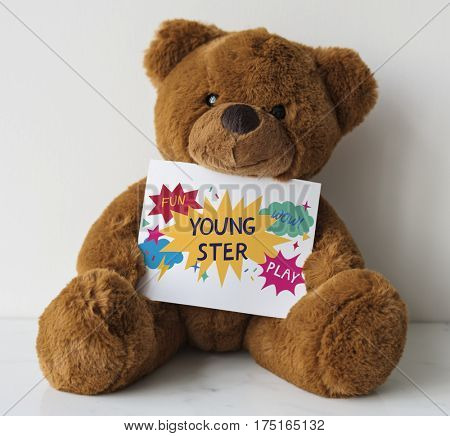 Kids Teddy Youngster Enjoy Fun Play Graphic