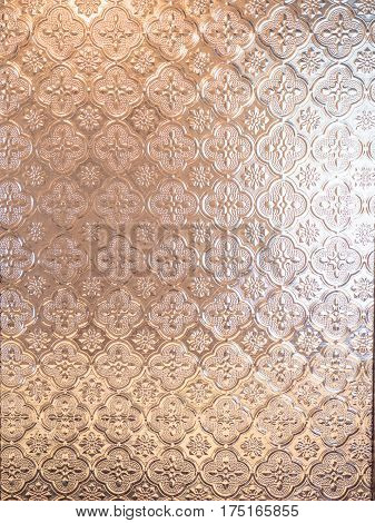 Mirror glass pattern and light in background