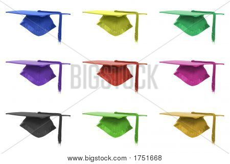 Graduation Mortar Background