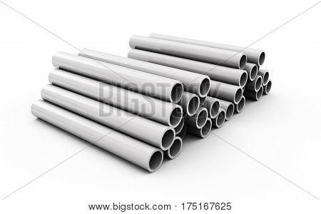 3d render of concrete pipe Maintenance, Management, Tubes, Facility, Vessels