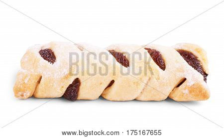 cookies with jam isolated on white. Gourmet, Refreshment, Organic, Unhealthy, Many, Bakery, Biscuit, Temptation, Indulgence, Crumb