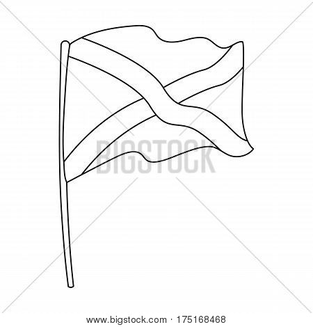Flag of Scotland icon in outline design isolated on white background. Scotland country symbol stock vector illustration.