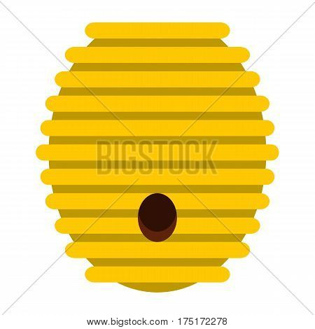 Beehive icon in flat style isolated on white background vector illustration