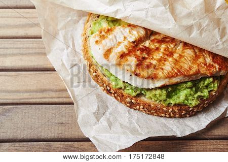 Sandwich With Turky And Avocado