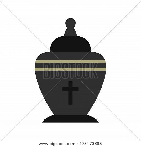 Urn icon in flat style isolated on white background vector illustration
