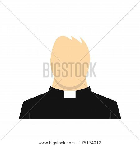 Priest icon in flat style isolated on white background vector illustration