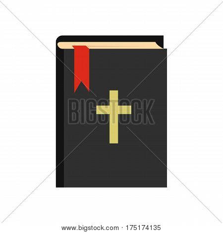 Bible icon in flat style isolated on white background vector illustration