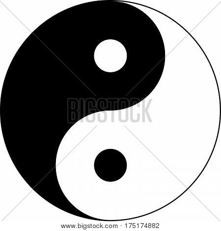 Background of black and white of Yin Yang symbol