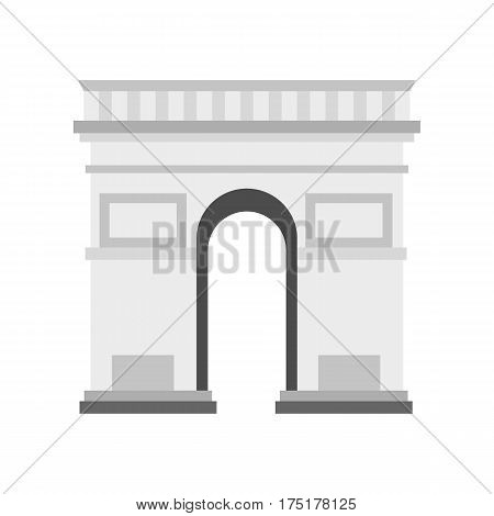 Triumphal Arch icon in flat style isolated on white background vector illustration