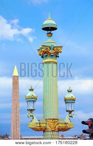 Place de la Concorde Obelisque in Paris France