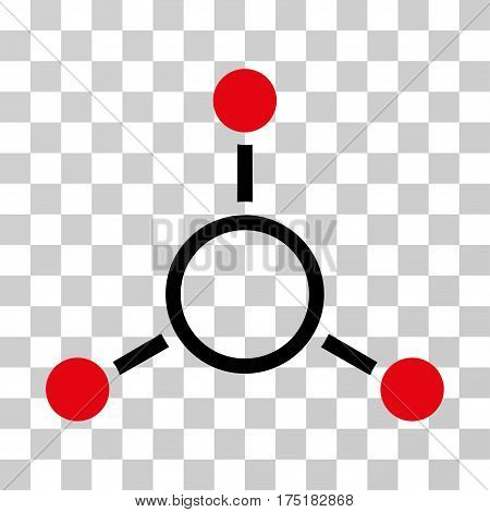 Radial Structure icon. Vector illustration style is flat iconic bicolor symbol intensive red and black colors transparent background. Designed for web and software interfaces.