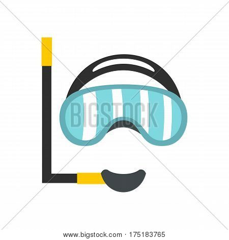 Diving mask icon in flat style isolated on white background vector illustration