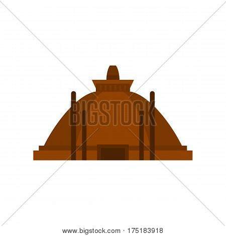 Memorable ruins in Polonnaruwa in Sri Lanka icon in flat style isolated on white background vector illustration