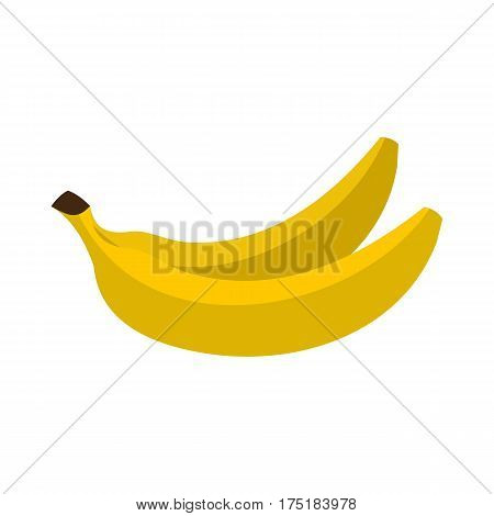 Banana icon in flat style isolated on white background vector illustration