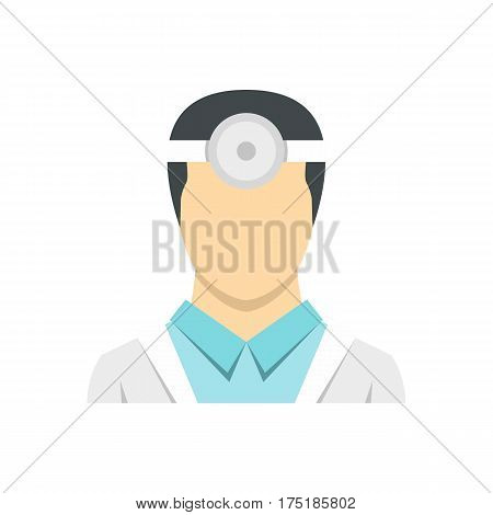 Oculist icon in flat style isolated on white background vector illustration