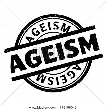 Ageism rubber stamp. Grunge design with dust scratches. Effects can be easily removed for a clean, crisp look. Color is easily changed.