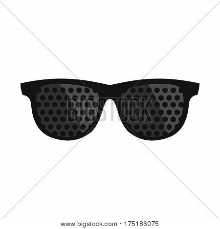 Bifocals icon in flat style isolated on white background vector illustration
