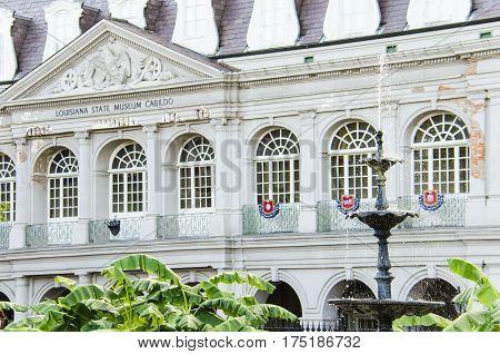 New Orleans, USA - July 8, 2015: Louisiana State Museum in New Orleans that houses thousands of artifacts and works of art.