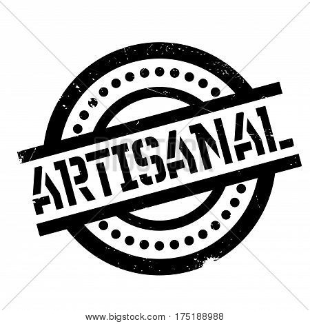 Artisanal rubber stamp. Grunge design with dust scratches. Effects can be easily removed for a clean, crisp look. Color is easily changed.