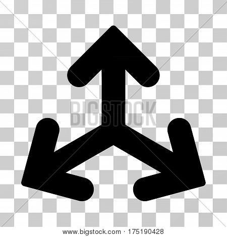 Direction Variants icon. Vector illustration style is flat iconic symbol black color transparent background. Designed for web and software interfaces.