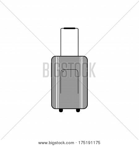 Luggagesuitcase icon on white background. Baggage bag briefcase symbol vacation travel and tourism. Template for poster sign. Flat vector image. Vector illustration.