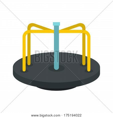 Merry go round icon in flat style isolated on white background vector illustration