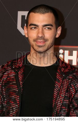 LOS ANGELES - MAR 5:  Joe Jonas at the 2017 iHeart Music Awards at Forum on March 5, 2017 in Los Angeles, CA