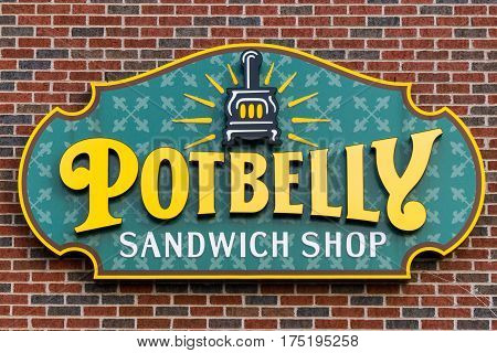 Pot Belly Sandwich Shop Sign And Logo