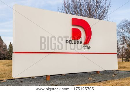 Deluxe Corporation Headquarters Entrance And Sign