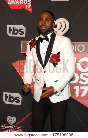 LOS ANGELES - MAR 5:  Jason Derulo at the 2017 iHeart Music Awards at Forum on March 5, 2017 in Los Angeles, CA