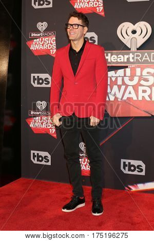 LOS ANGELES - MAR 5:  Bobby Bones at the 2017 iHeart Music Awards at Forum on March 5, 2017 in Los Angeles, CA