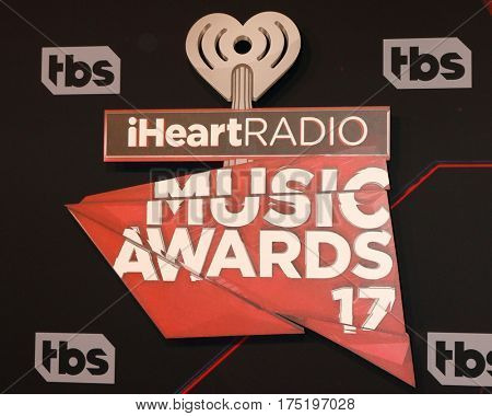 LOS ANGELES - MAR 5:  iHeart Music Awards 2017 emblem at the 2017 iHeart Music Awards at Forum on March 5, 2017 in Los Angeles, CA
