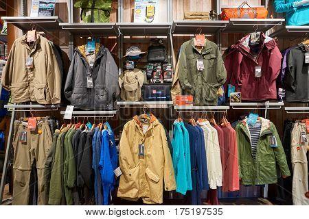 HONG KONG - NOVEMBER 22, 2016: inside a store in Hong Kong. Shopping is a widely popular social activity in Hong Kong.