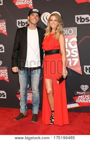 LOS ANGELES - MAR 5:  Granger Smith, wife at the 2017 iHeart Music Awards at Forum on March 5, 2017 in Los Angeles, CA