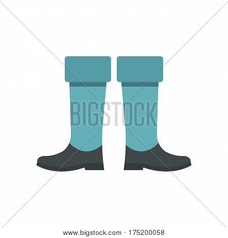 Fishing boots icon in flat style isolated on white background vector illustration