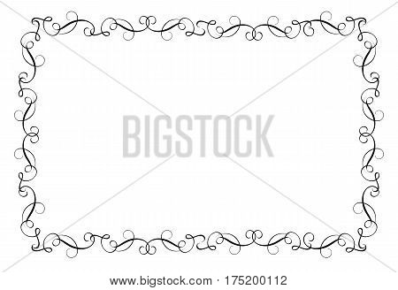 Decorative Frame and Borders Art. Calligraphy lettering Vector illustration EPS10.