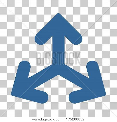 Direction Variants icon. Vector illustration style is flat iconic symbol cobalt color transparent background. Designed for web and software interfaces.