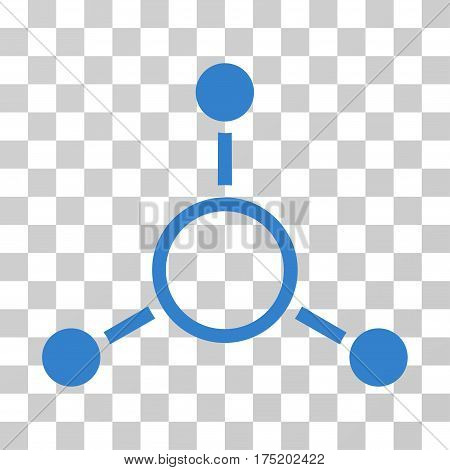 Radial Structure icon. Vector illustration style is flat iconic symbol cobalt color transparent background. Designed for web and software interfaces.