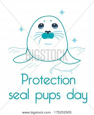 Greeting Card Protection Seal Pups
